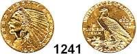 AUSLÄNDISCHE MÜNZEN,U S A  2 1/2 Dollars 1914.  (3.77g fein).  Schön 138.  KM 128.  Fb. 120.  GOLD