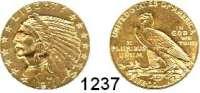 AUSLÄNDISCHE MÜNZEN,U S A  5 Dollars 1911.  (7,52g fein).  Schön 139.  KM 129.  Fb. 148.  GOLD