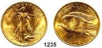 AUSLÄNDISCHE MÜNZEN,U S A  20 Dollars 1908.  (30,09g fein).