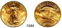 AUSLÄNDISCHE MÜNZEN,U S A  20 Dollars 1924.  (30,09g fein).  Schön 143.  KM 131.  Fb. 185.  GOLD