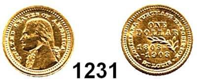 AUSLÄNDISCHE MÜNZEN,U S A  1 Dollars 1903.  (1,53g fein).  Louisiana/Jefferson.  Schön 127.  KM 119.  Fb. 98.  GOLD