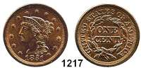 AUSLÄNDISCHE MÜNZEN,U S A  Cent 1851.  Kahnt/Schön 30.  KM 67.