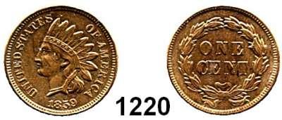 AUSLÄNDISCHE MÜNZEN,U S A  Cent 1859.  Kahnt/Schön 55.  KM 87.