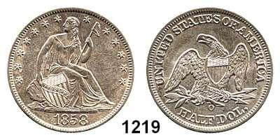 AUSLÄNDISCHE MÜNZEN,U S A  Half Dollar 1858 O.  Kahnt/Schön 73.  KM A 68.