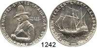 AUSLÄNDISCHE MÜNZEN,U S A  Gedenk Half Dollar 1920 D.  Pilgrim.  Schön 152.1.  KM 147.1.