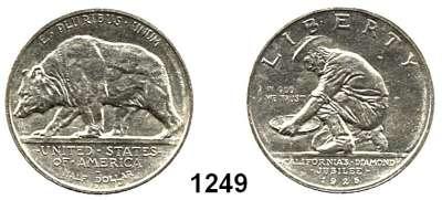 AUSLÄNDISCHE MÜNZEN,U S A  Gedenk Half Dollar 1925 S.  California.  Schön 161.  KM 155.