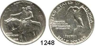 AUSLÄNDISCHE MÜNZEN,U S A  Gedenk Half Dollar 1925.  Stone Mountain.  Schön 160.  KM 157.