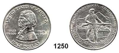 AUSLÄNDISCHE MÜNZEN,U S A  Gedenk Half Dollar 1925.  100 Jahre Fort Vancouver.  Schön 162.  KM 158.