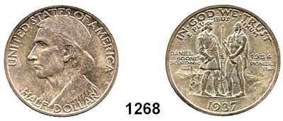 AUSLÄNDISCHE MÜNZEN,U S A  Gedenk Half Dollar 1937.  Daniel Boone.  Schön 171.  KM 165.2.
