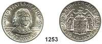 AUSLÄNDISCHE MÜNZEN,U S A  Gedenk Half Dollar 1934.  300 Jahre Maryland.  Schön 169.  KM 166.