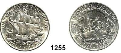 AUSLÄNDISCHE MÜNZEN,U S A  Gedenk Half Dollar 1935.  Hudson.  Schön 175.  KM 170.