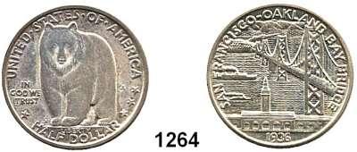 AUSLÄNDISCHE MÜNZEN,U S A  Gedenk Half Dollar 1936 S.  Oakland Bay Bridge.  Schön 188.  KM 174.