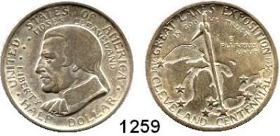 AUSLÄNDISCHE MÜNZEN,U S A  Gedenk Half Dollar 1936.  100 Jahre Cleveland.  Schön 179.  KM 177.
