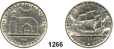 AUSLÄNDISCHE MÜNZEN,U S A  Gedenk Half Dollar 1936.  Delaware.  Schön 190.  KM 179.