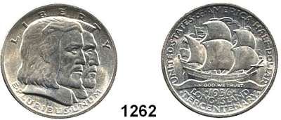 AUSLÄNDISCHE MÜNZEN,U S A  Gedenk Half Dollar 1936.  Long Island.  Schön 182.  KM 182.