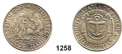AUSLÄNDISCHE MÜNZEN,U S A  Gedenk Half Dollar 1936 D. 300 Jahre Rhode Island.  Schön 178.  KM 185.