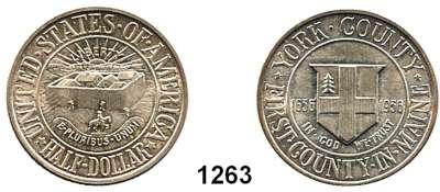 AUSLÄNDISCHE MÜNZEN,U S A  Gedenk Half Dollar 1936.  York County, Maine.  Schön 183.  KM 189.