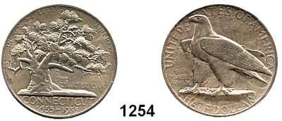 AUSLÄNDISCHE MÜNZEN,U S A  Gedenk Half Dollar 1935.  Connecticut.  Schön 172.  KM 169.