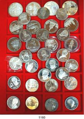 AUSLÄNDISCHE MÜNZEN,Russland LOTS   LOTS   LOTS LOT von 36 verschiedenen Gedenkmünzen.  3 Rubel Silber 1990 (3 verschiedene); 1 Rubel K/N (26) und 5 Rubel K/N (7).