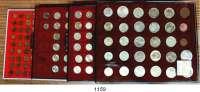 AUSLÄNDISCHE MÜNZEN,Russland LOTS   LOTS   LOTS LOT von 187 modernen Münzen von 1/2 Kopeke 1927 bis 100 Rubel 1992.  Darunter 1 Kopeke 1924; 2 Kopeken 1924, 1935; 5 Kopeken 1924; 50 Kopeken 1922, 1925; Rubel 1924(Rdd.).