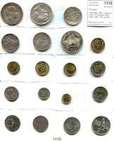 AUSLÄNDISCHE MÜNZEN,Portugal L O T S     L O T S     L O T S 1000 Reis 1899; 1 Escudo 1916; 10 Escudos 1928, 1932, 1954; 100 und 250 Escudos 1974/76