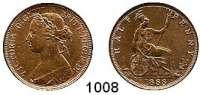 AUSLÄNDISCHE MÜNZEN,Großbritannien Viktoria 1837 - 1901 Half Penny 1888.  Spink 3956.  Kahnt/Schön 118.  KM 754.