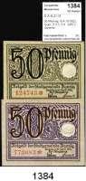 P A P I E R G E L D,D A N Z I G  50 Pfennig 15.4.1919(2).  Grab. D 3.3, 3.4.  LOT 2 Scheine.