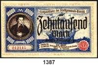 P A P I E R G E L D,D A N Z I G  10.000 Mark 26.6.1923.  Ros. DAN-23.