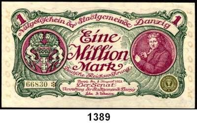 P A P I E R G E L D,D A N Z I G  1 Million Mark 8.8.1923.  Ros. DAN-26 a.