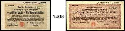 P A P I E R G E L D   -   N O T G E L D,Reichsbahn Berlin 0,42 Mark Gold 7.11.1923.  Serie RH-63(nicht im Katalog gelistet).  1,05 Mark Gold 7.11.1923.  Serie RH-29(nicht im Katalog gelistet).  2,10 Mark Gold 7.11.1923.  Müller/Geiger/Grabowski 002.35, 36,37.  LOT 3 Scheine.
