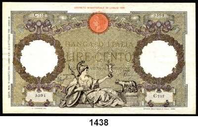 P A P I E R G E L D,AUSLÄNDISCHES  PAPIERGELD Italien 100 Lire 19.8.1941.  Pick 55 b.