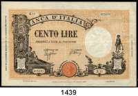 P A P I E R G E L D,AUSLÄNDISCHES  PAPIERGELD Italien 100 Lire 9.12.1942.  Pick 59.