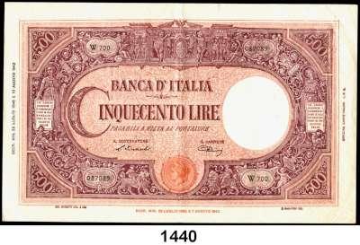 P A P I E R G E L D,AUSLÄNDISCHES  PAPIERGELD Italien 500 Lire 22.7.1946.  Pick 70 d.