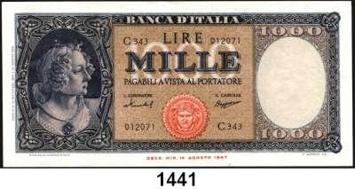 P A P I E R G E L D,AUSLÄNDISCHES  PAPIERGELD Italien 1000 Lire 15.9.1959.  Pick 88 c.