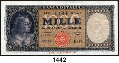 P A P I E R G E L D,AUSLÄNDISCHES  PAPIERGELD Italien 1000 Lire 22.9.1961.  Pick 88 d.