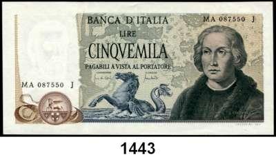 P A P I E R G E L D,AUSLÄNDISCHES  PAPIERGELD Italien 5000 Lire 20.5.1971.  Pick 102 a.