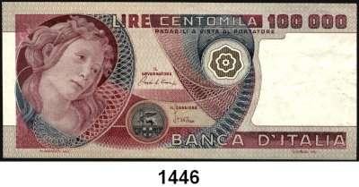 P A P I E R G E L D,AUSLÄNDISCHES  PAPIERGELD Italien 100.000 Lire 1.7.1980.  Pick 108 b.