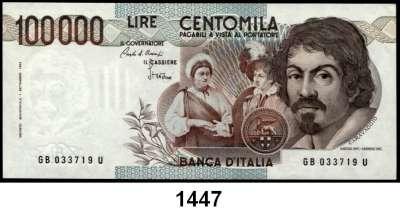 P A P I E R G E L D,AUSLÄNDISCHES  PAPIERGELD Italien 100.000 Lire 1.9.1983.  Pick 110 a.
