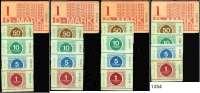 P A P I E R G E L D,D D R Gefängnisgeld 1, 5, 10, 50 Pfennig und 1 D-Mark 1.7.1990.  Serie B.  Jeweils 20 Stück,  Ros. MDI-34, 35, 36, 37, 38.  LOT 100 Scheine.