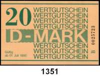 P A P I E R G E L D,D D R Gefängnisgeld 1, 5, 10, 50 Pfennig, 1, 5, 10, 20 D-Mark 1.7.1990.  Serie B.  Ros. MDI-34, 35, 36, 37, 38, 39, 40, 41.  LOT 8 Scheine.