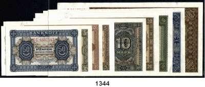 P A P I E R G E L D,D D R  50 Pfennig bis 1000 Mark 1948.  SATZ 9 Scheine.