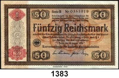 P A P I E R G E L D,Konversionskasse für Deutsche Auslandsschulden  50 Reichsmark 28.8.1933(1934).  DEU-236 a.