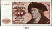 P A P I E R G E L D,BUNDESREPUBLIK DEUTSCHLAND  500 Deutsche Mark 2.1.1960.  V...C.  Ros. BRD-11 a.