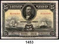 P A P I E R G E L D,AUSLÄNDISCHES  PAPIERGELD Lettland 25 Latu 1928.  Pick 18 a.