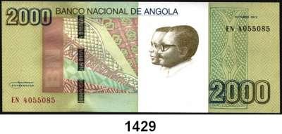 P A P I E R G E L D,AUSLÄNDISCHES  PAPIERGELD Angola 100 und 500(gebraucht) Escudos 10.6.1973.  2000 Kwanzas Oktober 2012.  Pick 106, 107, 187 a.  LOT 3 Scheine.