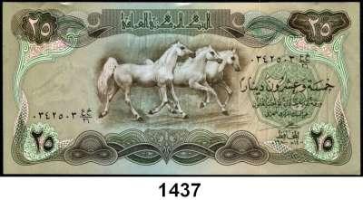 P A P I E R G E L D,AUSLÄNDISCHES  PAPIERGELD Irak LOT von 10 verschiedenen Banknoten.  Von 1/2 Dinar bis 10000 Dinars.
