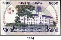 P A P I E R G E L D,AUSLÄNDISCHES  PAPIERGELD Uganda LOT von 9 verschiedenen Banknoten.  Von 1000 Shillings bis 10.000 Shillings.