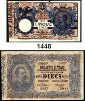 P A P I E R G E L D,AUSLÄNDISCHES  PAPIERGELD Italien 5 Lire 14.10.1917(leicht gebraucht);  10 Lire 19.5.1923(gebraucht).  2000 Lire 1990(kassenfrisch).  Pick 20 h. 23 e, 115.  LOT 3 Scheine.