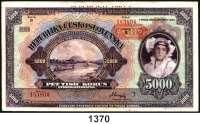 P A P I E R G E L D,Besatzungsausgaben des II. Weltkrieges Protektorat Böhmen und Mähren 5 Kronen bis 5000 Kronen.  Je: