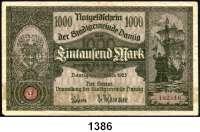 P A P I E R G E L D,D A N Z I G  1000 Mark 15.3.1923.  Ros. DAN-19 b.